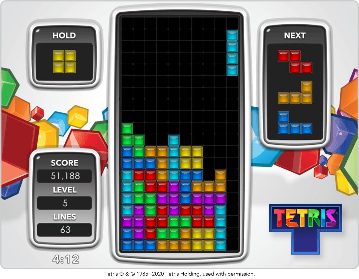 The computer game Tetris